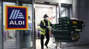 Aldi is offering face masks to its staff (Yui Mok/PA)