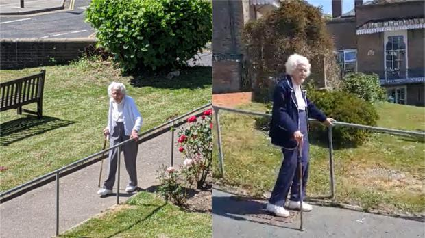 Joan has raised more than £500 during her daily walks. (British Heart Foundation)