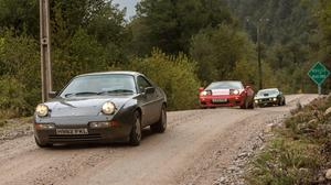 James May, Richard Hammond and Jeremy Clarkson in their cars in the Top Gear Christmas special