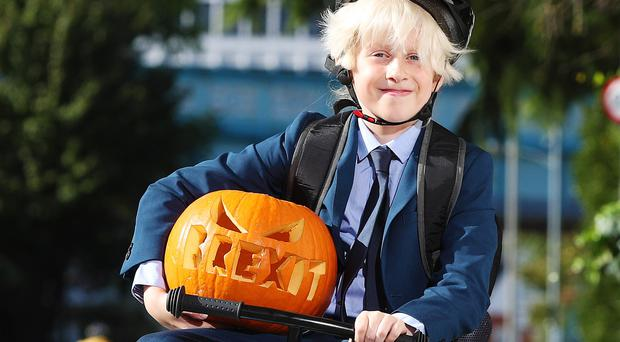 Children will be dressing as Boris Johnson this Halloween, new research has found (PA)