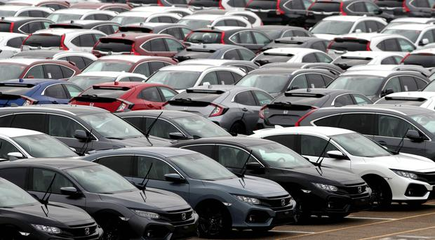Preliminary figures show 2.3 million new cars were registered in the UK in 2019 (Andrew Matthews/PA)