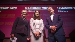 Labour leadership candidates Rebecca Long-Bailey, Lisa Nandy and Sir Keir Starmer (Jane Barlow/PA)
