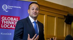 Irish premier Leo Varadkar has said he and Theresa May are prepared to get directly involved in the Stormont talks (Liam McBurney/PA)