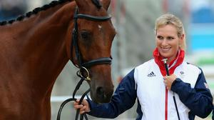 Zara Tindall at the Olympics in 2012 (Steve Parsons/PA)