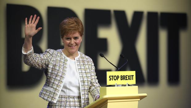 First Minister Nicola Sturgeon has launched the SNP's General Election manifesto (Jane Barlow/PA)