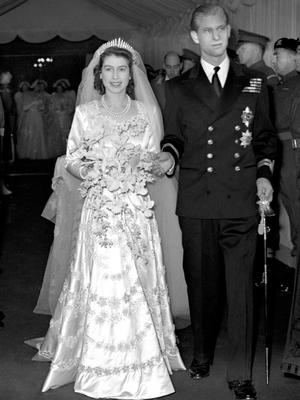 The Duke of Edinburgh, pictured on his wedding day, November 20 1947 with the then Princess Elizabeth, is from the generation which traditionally did not wear wedding rings. (PA)