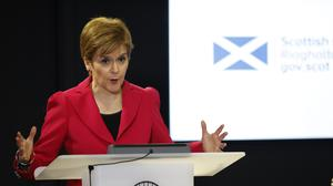 Scotland's First Minister Nicola Sturgeon explained the changes to the Scottish Government's response to coronavirus crisis and the advice being given (Andrew Barr/PA)