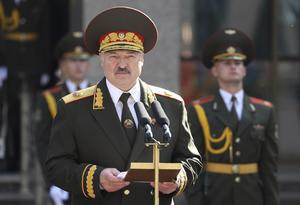 Belarusian president Alexander Lukashenko delivers a speech during his inauguration ceremony in Minsk (Maxim Guchek, BelTA/Pool Photo via AP)