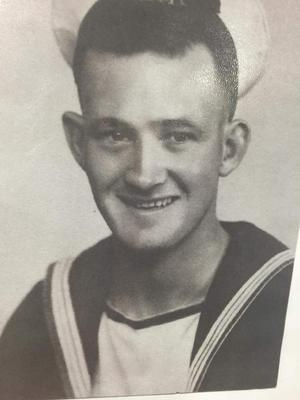Ernest Green, 93, during his days as an able seaman in the Second World War (Family handout/PA)