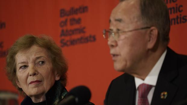 What does the Doomsday Clock statement say are worsening global factors? (Bulletin of the Atomic Scientists/PA)
