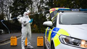 Police at the scene of the incident in Crawley (Kirsty O'Connor/PA)