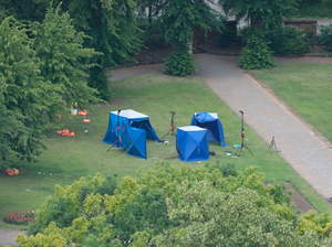 The aftermath of the attack in Forbury Gardens, Reading