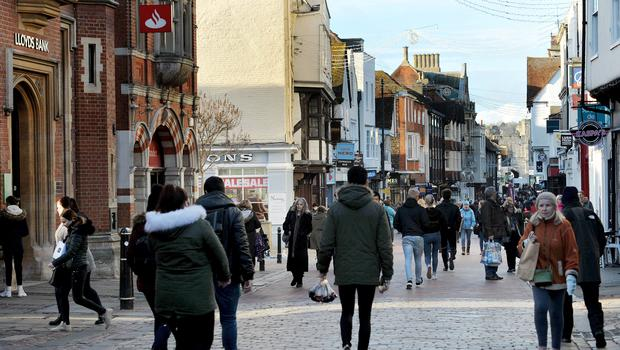 The Parade looking towards the High Street in Canterbury (Nick Ansell/PA)