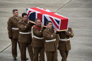 Captain Dean Sprouting's body was repatriated back to the UK in February 2018 (Corporal Donald Todd/Ministry of Defence/PA)