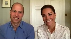 The Duke and Duchess of Cambridge take part in a video call during Volunteers Week (Kensington Palace/PA)