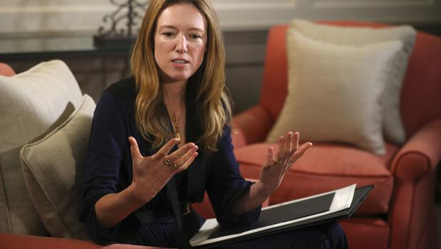Clare Waight Keller, who designed Meghan Markle's wedding dress (Hannah McKay/PA)