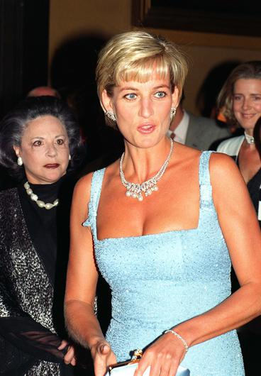 Diana, Princess of Wales, arriving at the Royal Albert Hall, London, for a gala performance of Swan Lake by the English National Ballet (John Stillwell/PA)