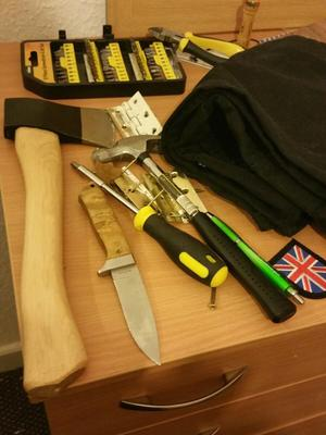 Weapons found in Ethan Stables' flat (Greater Manchester Police/PA)