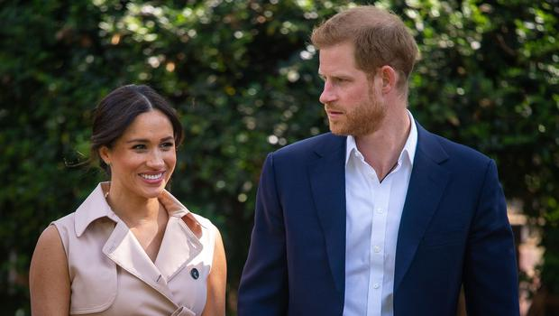 Harry and Meghan on their tour of Africa (Dominic Lipinski/PA)