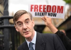 Jacob Rees-Mogg outside the Houses of Parliament (PA)