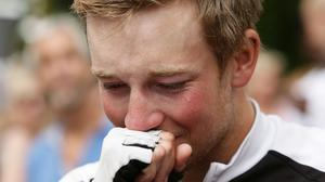 An emotional Tom reflects on his achievement
