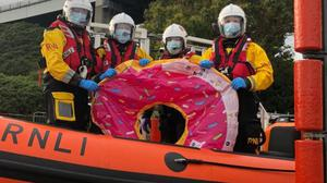 The crew recovered the inflatable (RNLI Kessock/PA)