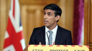 Chancellor Rishi Sunak has been under pressure over the two-metre rule (Pippa Fowles/10 Downing Street/Crown Copyright/PA)