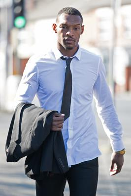 Mansfield Town footballer Krystian Pearce arrives at Mansfield Magistrates' Court, where Sheffield Wednesday footballer Fernando Forestieri, 29, was found not guilty of racially aggravated harassment and using threatening words or behaviour (PA)