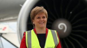 First Minister Nicola Sturgeon criticised the UK Government's 'shambolic' decision-making about air bridges (Andrew Milligan/PA)
