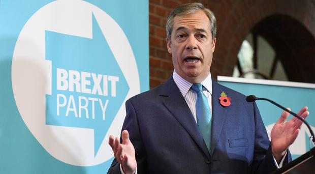 Nigel Farage said he is targeting Labour votes in the General Election (Stefan Rousseau/PA)