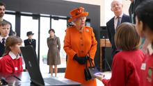 The Queen speaks with children about computer programming during a visit to the Science Museum (Simon Dawson/PA)
