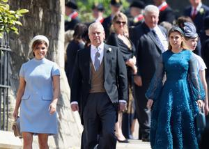 Princess Eugenie, the Duke of York and Princess Beatrice will all move down a place in the line of succession (Chris Jackson/PA)