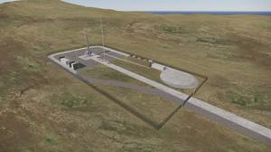 An impression of the launchpad in Sutherland (NORR/HIE)