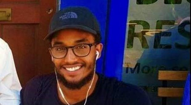 Zakaria Bukar Sharif Ali, 26, who was stabbed to death outside a bar in Kingsland Road, Hackney, east London.