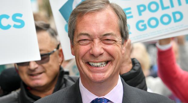 Brexit Party leader Nigel Farage (Ben Birchall/PA)