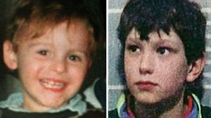 James Bulger, left, and one of his murderers Jon Venables (PA)