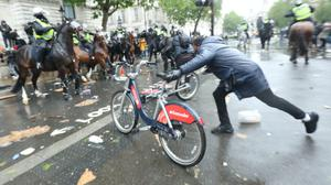 Further demonstrations are expected on Sunday in major UK cities, prompted after US black man George Floydwas killed on May 25 while in police custody (Yui Mok/PA)