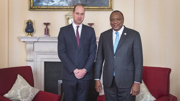The Duke of Cambridge and President Kenyatta at St James's Palace (Victoria Jones/PA Wire)