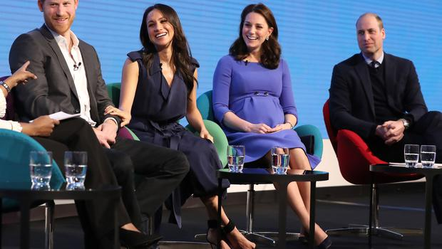 Prince Harry, Meghan Markle and the Duchess and Duke of Cambridge during the first Royal Foundation Forum in central London (Chris Jackson/PA)