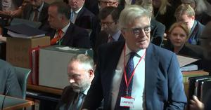 Screengrab taken from the Supreme Court in London of Lord Garnier QC, representing Sir John Major (Supreme Court/PA)
