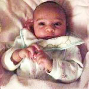 Four-month-old Farah Afzal, who is missing and believed to be in Barcelona with her mother Zainab Rasul and father Mohammed Afzal (Family handout/Harrow Council/PA)