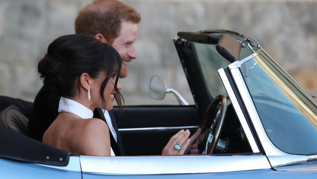 The ring was spotted on Meghan's right hand (Steve Parsons/PA)