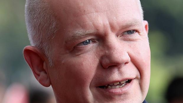 Foreign Secretary William Hague is meeting Ukraine's leaders as the crisis deepens