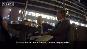 Secret footage has captured Cambridge Analytica execs Alexander Nix and Mark Turnbull boasting of the firm's role in the US election (Channel 4)