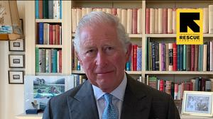 he Prince of Wales delivering a personal message in support of the humanitarian organisation