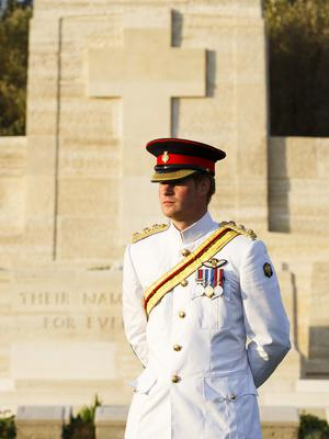 Prince Harry marking the 100th anniversary of the Gallipoli campaign during World War I in Turkey (Tristan Fewings/PA)