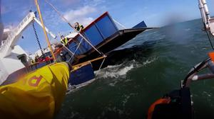 Scene of the rescue at Poole (RNLI)