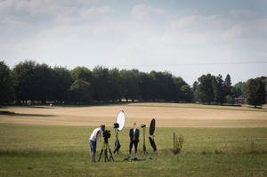 Channel Five Political Editor Andy Bell reports from a field near Chequers (Stefan Rousseau/PA)