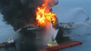 The Deepwater Horizon oil rig exploded (US Coast Guard/PA)
