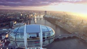 The view from one of the gondola's of the British Airways London Eye (Toby Melville/PA)